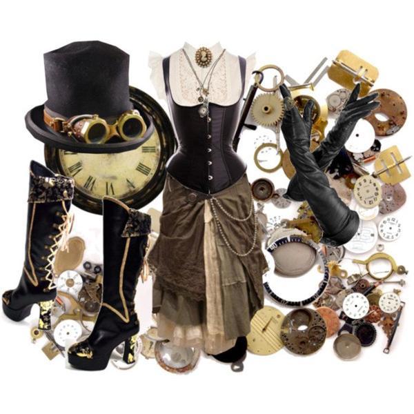 Look steampunk et victoriana