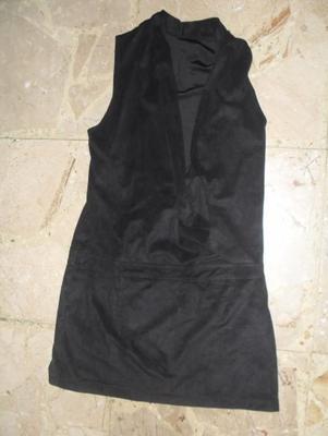 Mini robe/tunique en velours noire, taille S (36-38), prix d'achat : 35 euros