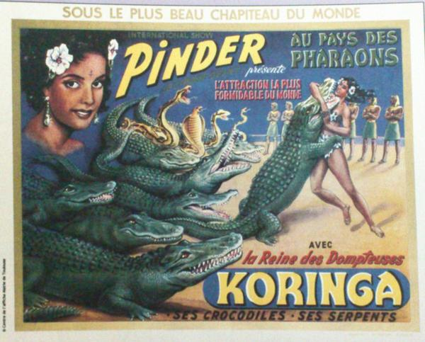 KORINGA Dompteuse de serpents et de crocodiles ...