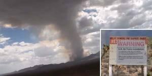 Un étrange nuage en champignon a émergé de la zone 51