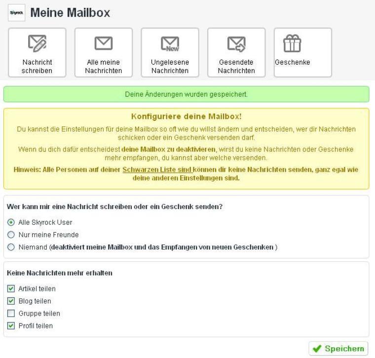 Neue Einstellungsmöglichkeiten für deine Mailbox!