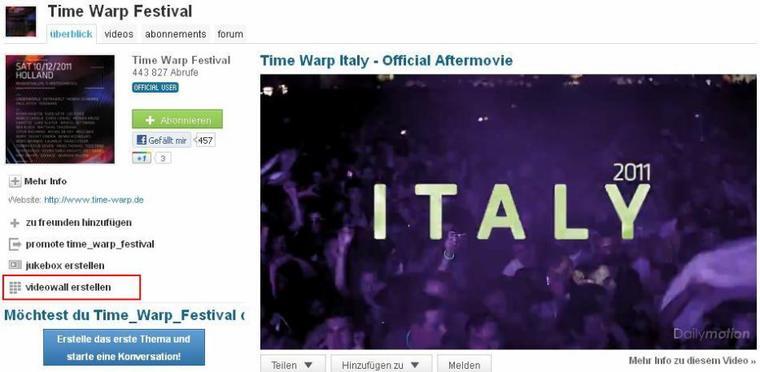 BLOG: Die Dailymotion Videowall jetzt auf Skyrock!