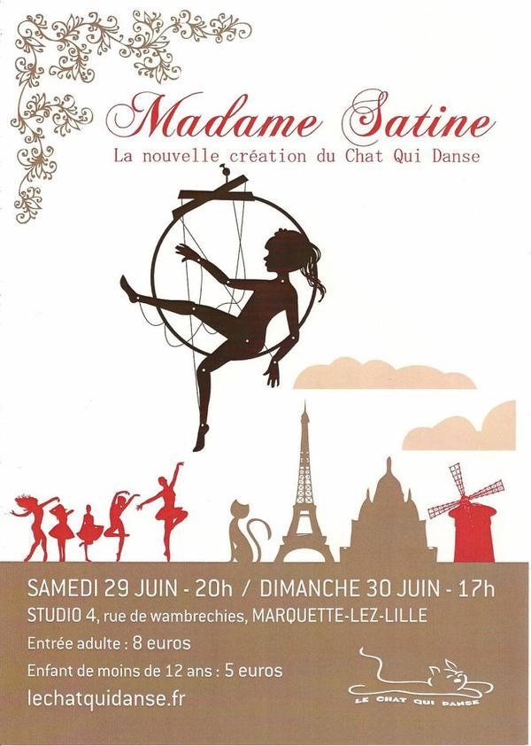 MADAME SATINE - LA NOUVELLE CREATION DU CHAT QUI DANSE