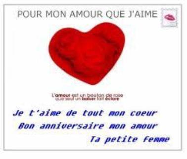 BNE ANNIVERSAIRE MON BB D'AMOUR JTM TRO GRAV