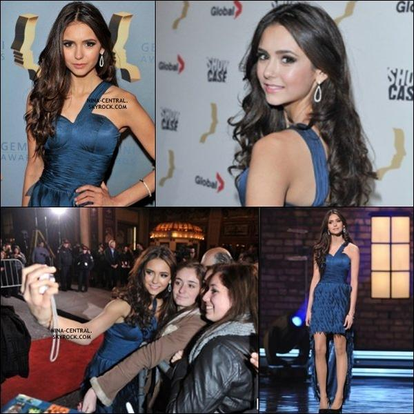 Flash Back: (13/11/2010) Nina au 25ème Gemini Awards + photo promo