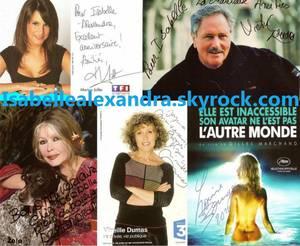 Les cartes et photos des célébritées qui  m'on ecris.