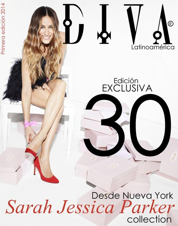 Periodista Andrea González-Villablanca publica edición de DIVA Latinoamérica con Sarah Jessica Parker.