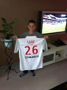 Maillot premiere mi temps asnl montpelier 17 03 2012 remis a la fin du match par Salif Sané