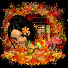 L'heureuse balade des pluches en automne.