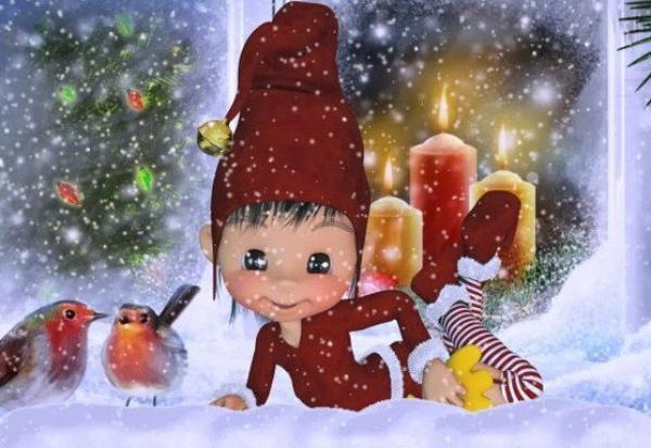 Les lutins se préparent pour fêter Noël eux aussi!