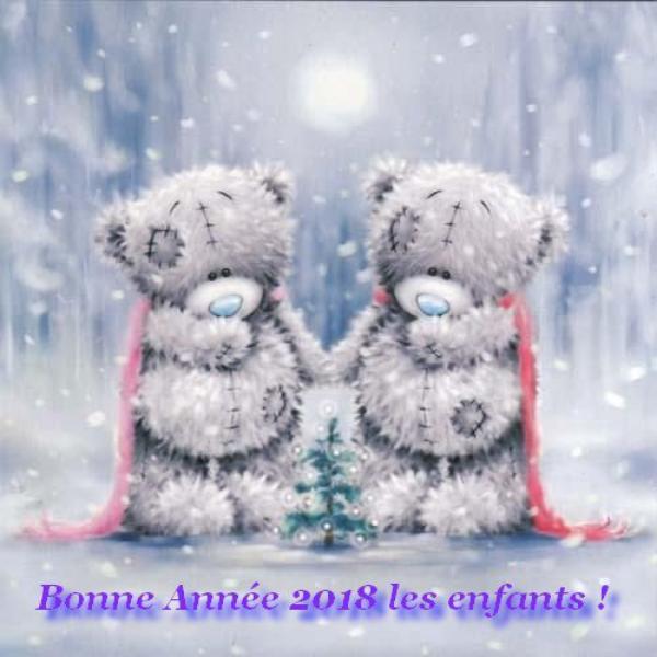 Bonne année 2018 à tous les enfants dans le monde!