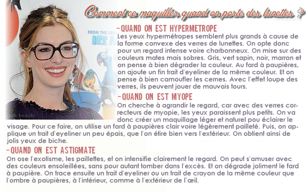 MAKE UP : Une question qui est souvent répetée : Comment se maquiller lorsqu'on porte des lunettes ? voici ma réponse !  Vos avis ?