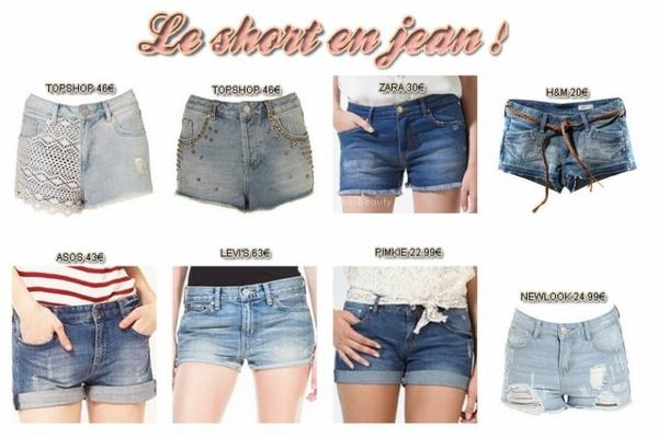LOOK : Le short en jeans -> l'indémodable !