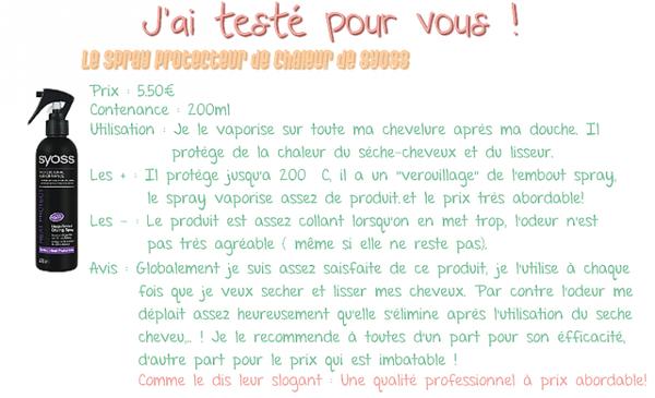 J'AI TESTÉ POUR VOUS  : Le spray protecteur de chaleur de Saint-algue de SYOSS