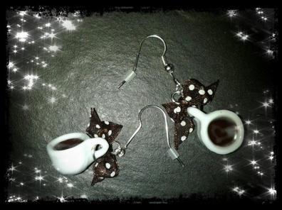 Boucles d'oreilles tasses à cafés