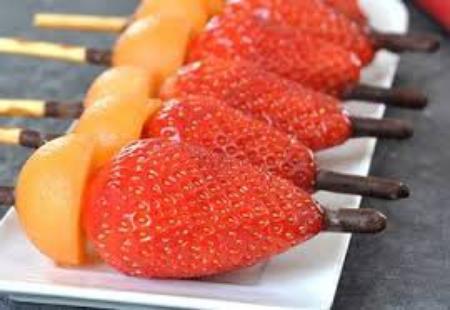 Brochette fraise/melon :