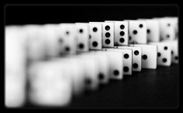 >TAKE ME DOWN LIKE I'M A DOMINO <
