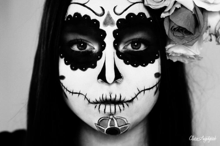 Nouveau Shooting: Mexican Skull - Dia de Los Muertos  (Ouais c'est bien moi sous ce maquillage!)