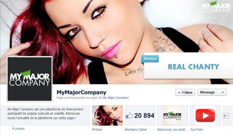 En tête d'affiche sur la page facebook de My Major Company!