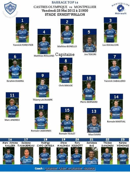 Match de Barrage 2011/2012 CO-MHRC ... C'est Maintenant !