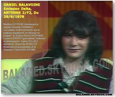 """L'émission """"Delta"""" de 1978 avec Daniel Balavoine sur le site de L'INA"""