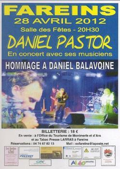 HOMMAGE A DANIEL BALAVOINE LE 28 AVRIL 2012 A FAREINS