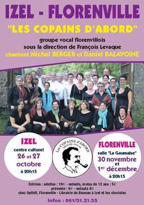 Les copains d'abord chantent Daniel Balavoine et Michel Berger le 26 et 27 Octobre 2012 à à Izel