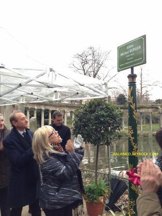 Inauguration de l'allée Michel Berger
