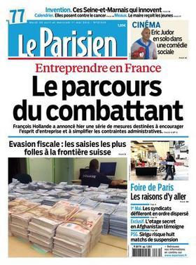 Démenti de Jérémie Balavoine - à la Page 43 dans le journal Le Parisien Du Mardi 30 Avril 2013