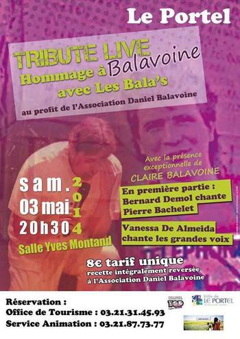 Concert pour l'association Daniel Balavoine le 03 Mai 2014 à Le Portel