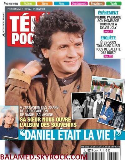 Balavoine en couverture de Télé poche du 9 au 15 janvier 2016