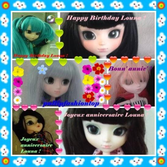 Joyeux anniversaire Louna !!