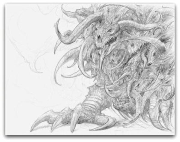 John Howe dessins en couleur