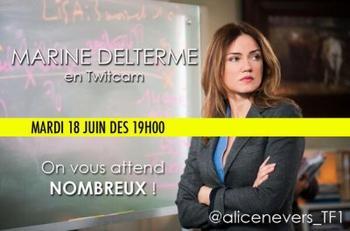 Twitcam , interview vidéo de Marine Delterme
