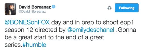Emily devrait diriger un épisode de bones