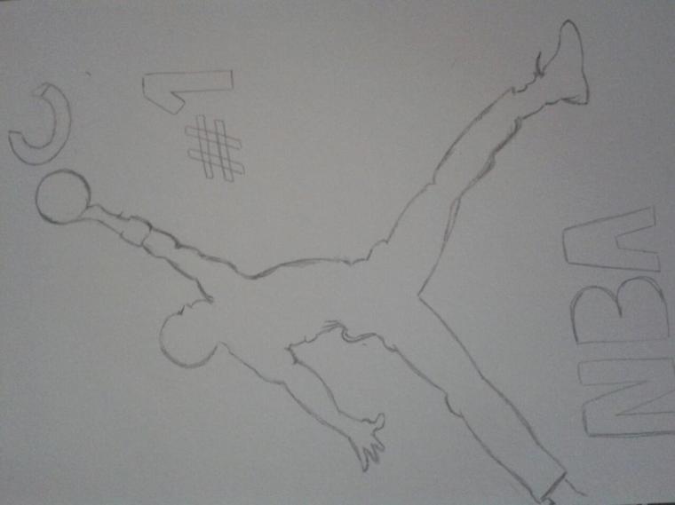 J aime trop dessiner pour lui ♡♥♡ jtm mon basketteur chéri ;-*