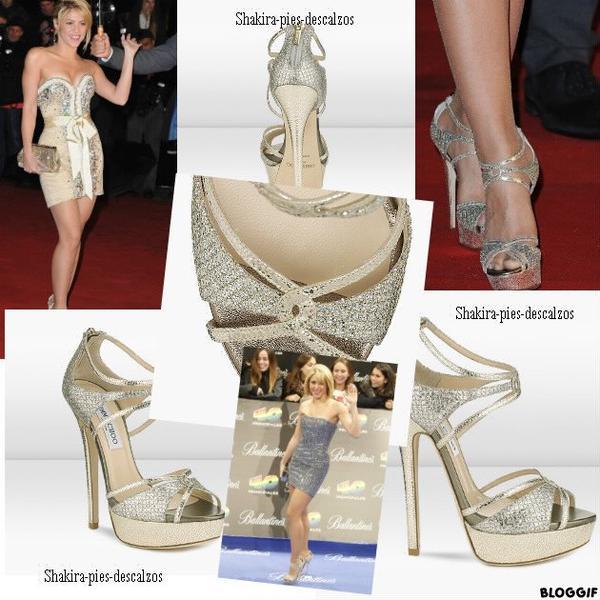 Durant les dernières apparitions de Shakira, nous pouvions voir qu'elle portait une paire de sendales de la collection de Jimmy Choo. PRIX : 575 euros