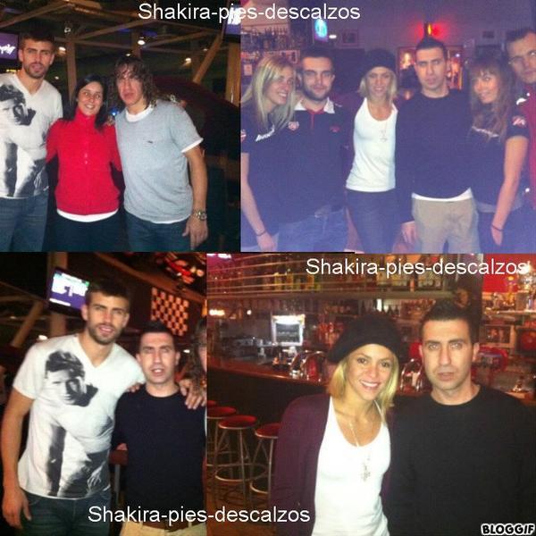 Shakira et Gerard en train de fêter leur anniversaire (2 février)