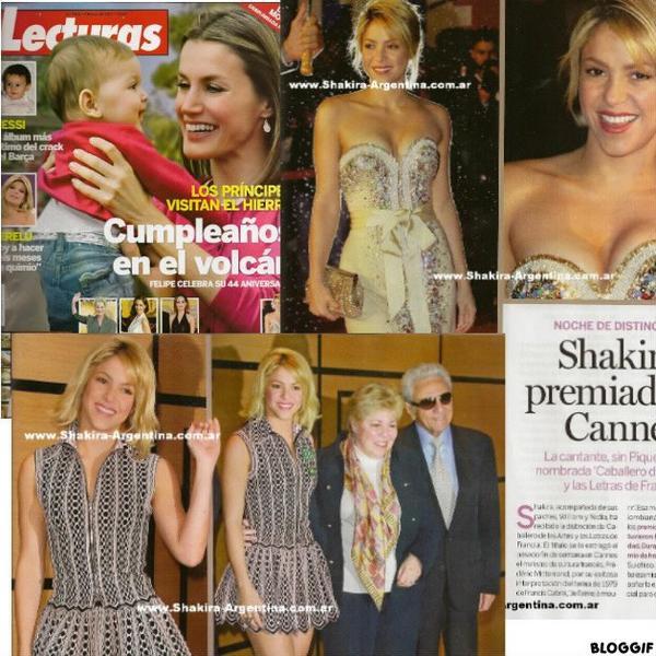 """Shakira dans le magasine """" Lecturas """"  en Espgane"""