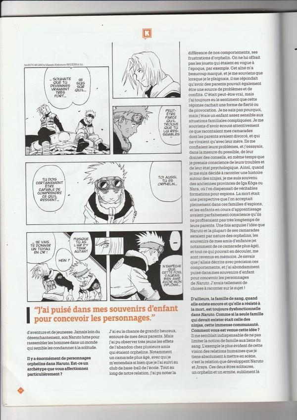 NARUTO, Interview avec MASASHI KISHIMOTO
