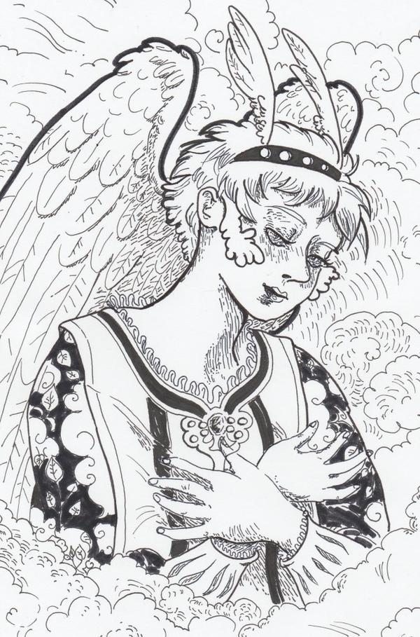 Portrait de Gabriel ange.