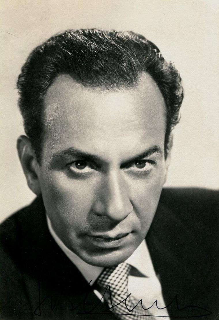 "José FERRER (Born : José Vicente FERRER DE OTERO Y CINTRON,  January 8, 1912 in Santurce, PUERTO RICO,  Died : January 26, 1992 (age 80) in Coral Gables, Florida, USA) Height : 5' 10"" (1,78 m)"