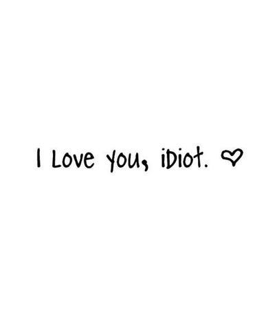 Thé Blanc -I Love You Idiot