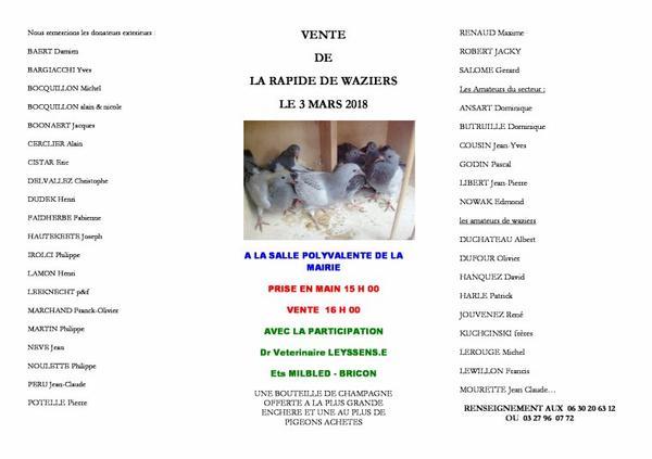 Le 3 Mars vente a Waziers