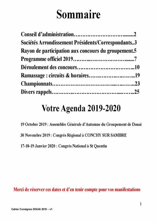 Cahier de consignes 2019 sous grpt de Douai   (1/4)