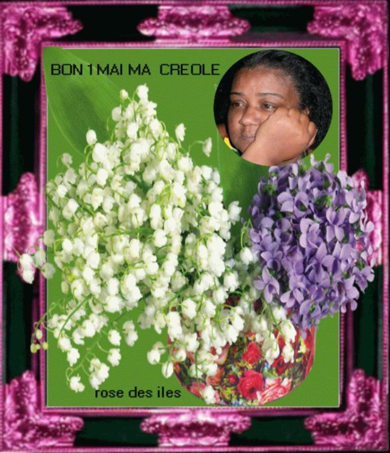 MOntage cadeau du 1 er Mai de mon amie Rose-Desiles