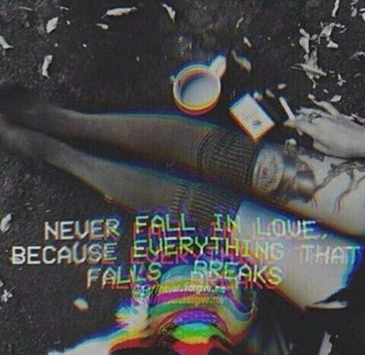"""""""Personne ne m'a brisé le coeur, je me suis brisé le coeur moi-même… Moi seule m'illusionne et me désillusionne."""""""