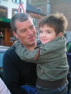 mon petit frére et mon papa