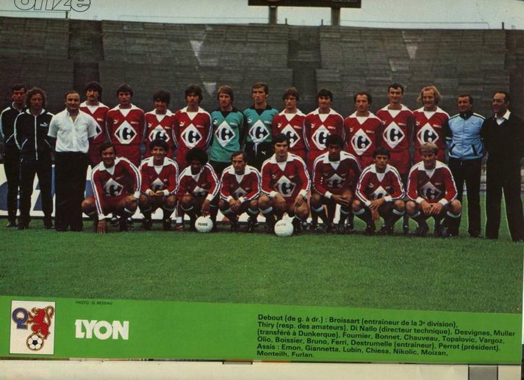 Maillot OL 1981/1982