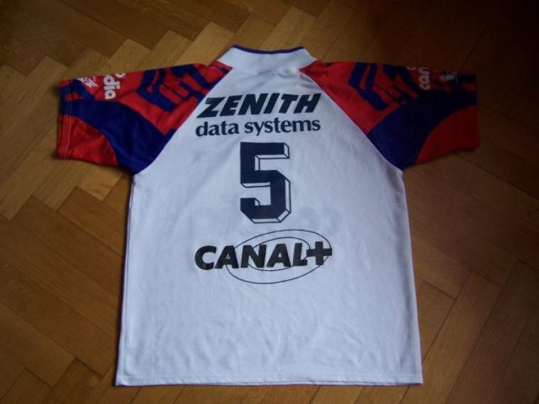 Maillot OL 1991/1992 sponsor extérieur